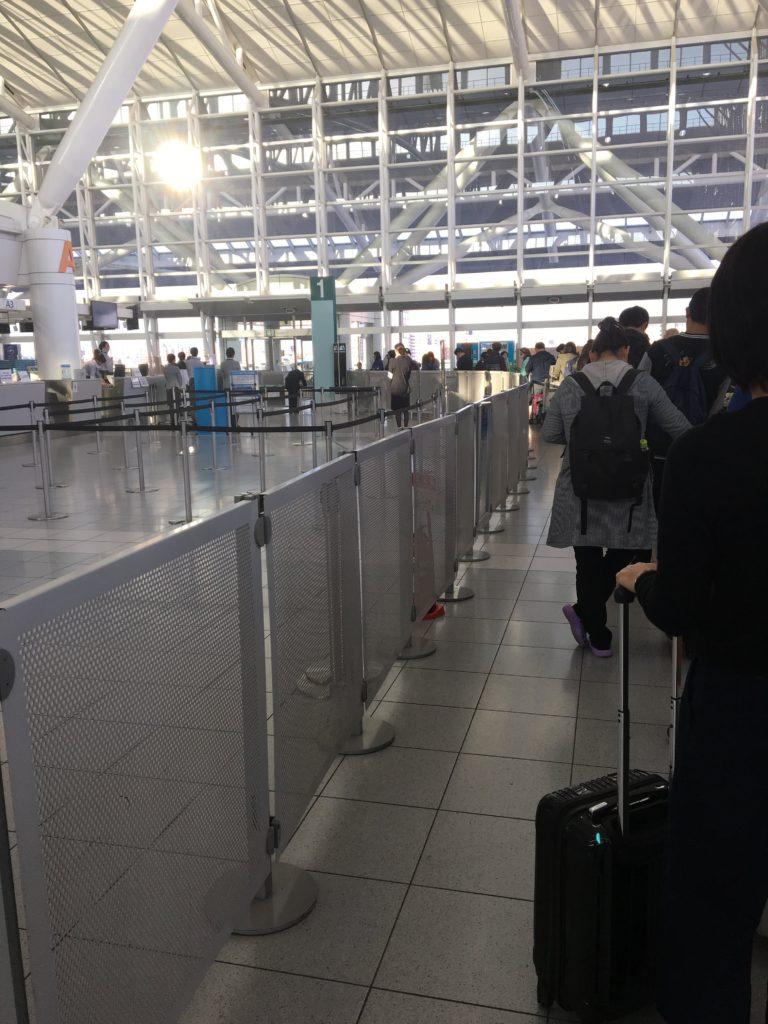 福岡空港チェックイン